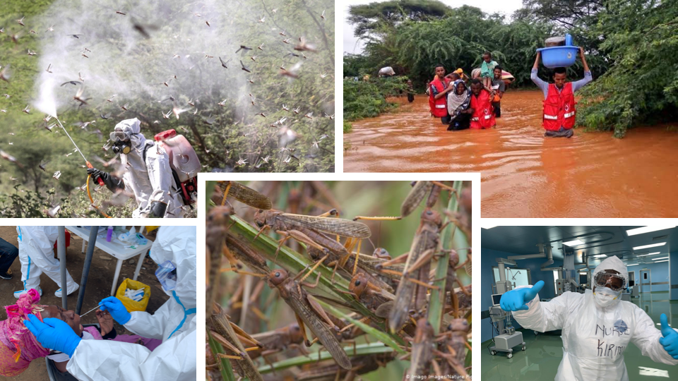 Kenya has gone through an unprecedented humanitarian crisis of COVID19, Floods and Locust invasion