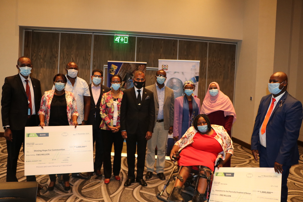 UN in Kenya Staff Contribute towards Solidarity Fund to support vulnerable Communities affected by COVID 19