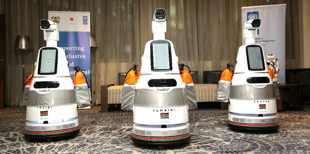 UNDP Kenya and Ministry of Health Launch Smart Robots to Prevent the Spread COVID-19