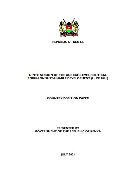 2021 Kenya Position Paper on the Implementation of SDGs