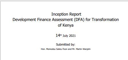DFA Inception Report