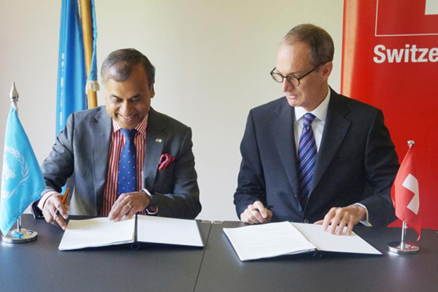 Signing of Swiss support agreement
