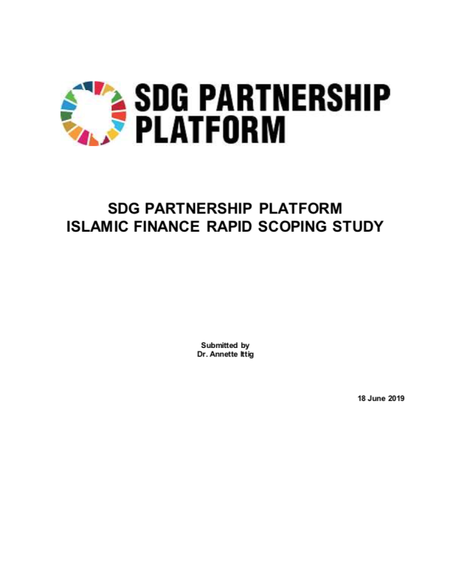 SDG Partnership Platform Islamic Finance Rapid Scoping Study - Publication